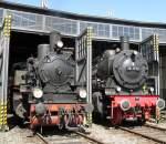 Br 38/113402/38-1772-und-die-t11-hanover 38 1772 und die T11 'Hanover' am 6.4.10 im Lokschuppen des Bw Gerosltein.