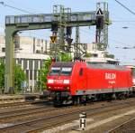 BR 145/134269/145-057-6-am-1942011-in-aachen 145 057-6 am 19.4.2011 in Aachen Hbf.