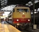 E03/143436/103-184-mit-dem-tee-rheingold 103 184 mit dem TEE Rheingold am 2.6.2011 in Aachen Hbf.