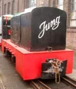 Lokomotiven/120646/eine-feldbahnlokomotive-der-marke-jung-am Eine Feldbahnlokomotive der Marke Jung am 13.2.11 im RIM Köln.
