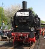 Eisenbahnmuseum Bochum-Dahlhausen/133800/74-1192-der-berliner-s-bahn-am 74 1192 der Berliner S-Bahn am 16.4.2011 auf der Drehscheibe des Eisenbahnmuseum Bochum-Dahlhausen.