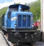 Eisenbahnmuseum Bochum-Dahlhausen/133882/die-henschel-v1-der-hespertalbahn-am Die Henschel V1 der Hespertalbahn am 16.4.2011 im Eisenbahnmuseum Bochum-Dahlhausen.