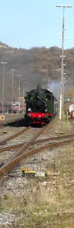 Wiehltalbahn/113404/das-letzte-was-ich-vom-dampfspektakel Das letzte was ich vom Dampfspektakel 2010 miterleben durfte war die Abfahrt der historischen Lok 'Waldbröl',der Wiehltalbahn,aus dem Bahnhof Gerolstein.Es war fast Abend und ich hatte DIE Aufnahmen im Kasten!:)