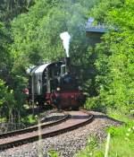 Wiehltalbahn/141767/dampflokomotive-waldbroel-am-2952011-auf-der Dampflokomotive 'Waldbröl' am 29.5.2011 auf der Wiehltalbahn.