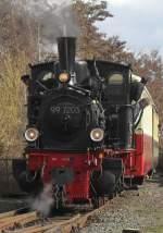 Brohltalbahn/106403/99-7203-am-2410-im-umladebahnhof 99 7203 am 2.4.10 im Umladebahnhof Brohl.
