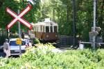 Triebwagen/108985/ein-triebwagen-der-rittnerbahn-am-280607 Ein Triebwagen der Rittnerbahn am 28.06.07. auf dem Ritten.