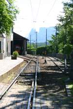 Triebwagen/108987/bahnhof-und-depot-der-rittnerbahn-im Bahnhof und Depot der Rittnerbahn im Jahr 2007.
