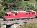 ge-4-4-ii/109045/ge-44-ii-615-klosters-mt Ge 4/4 II 615 'Klosters' mt RE nach St. Moritz am 19.07.10. kurz hinter dem Bahnhof von Bergün.